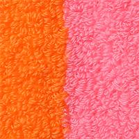オレンジ×ピンク