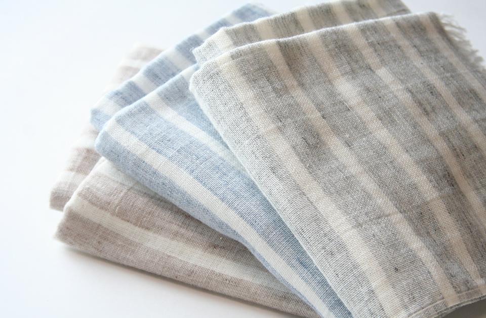 麻と綿が織りなすタオルマフラー